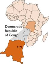 Map of Congo showing Fizi- my home district
