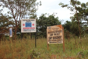 Signs as we enter Nyarugusu refugee camp