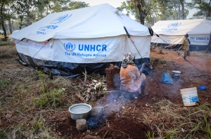 Tents of newly arrived Burundian refugees in Nyarugusu Camp